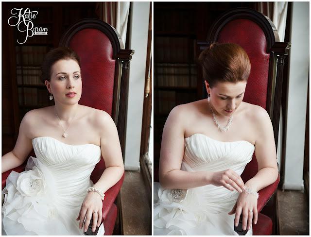 kirkley hall, bridal designs wedding jewellery, northumberland wedding, katie byram photography