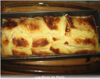 Flan de huevo y pan