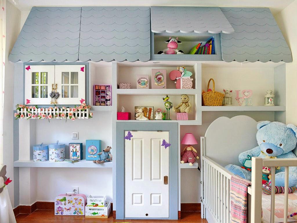 Simplesmente decor quarto encantador para beb - Estanterias para bebes ...