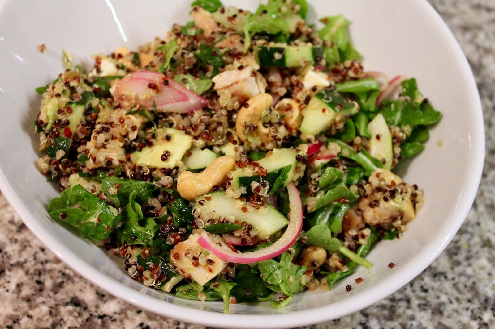 Cook In / Dine Out: Quinoa Salad with Chicken and Vegetables