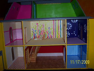 Manualidades para regalar, estructura casa de muñecas