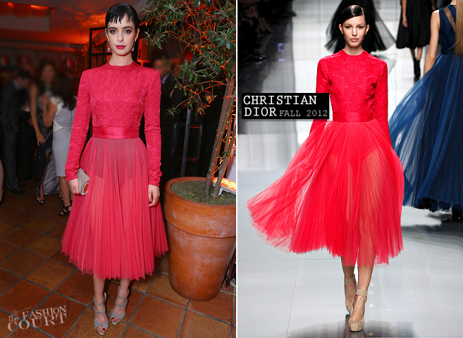 Krysten Ritter In Christian Dior Fall 2012