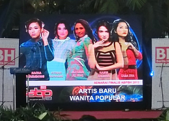 Blogger Cantik Calon Top 5 artis baru popular ABPBH2013