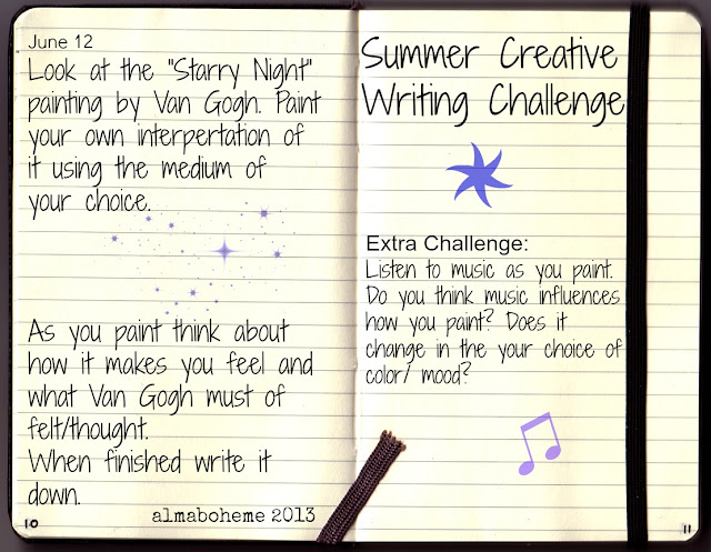 the creative writing my summer off