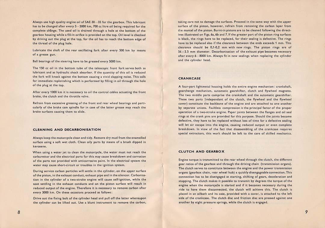 BZ\'s BMW Isetta 300\'s: Csepel Danuvia 125 - Owners Manual