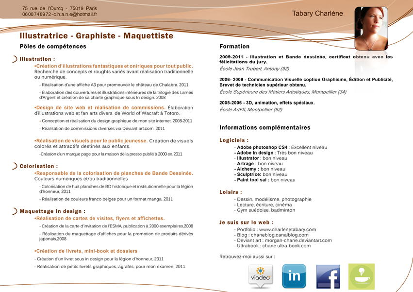 le blog de chane  step by step 5   r u00e9aliser un cv graphique