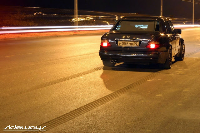 w124 e500 on road