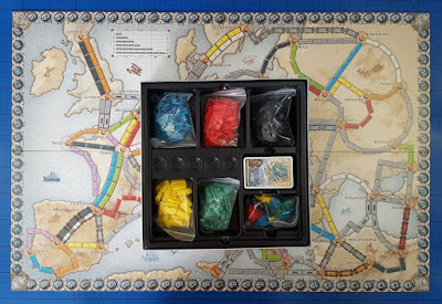 Ticket To Ride: European Edition game board size