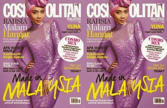 Fesyen Alien Yuna Hiasi Majalah Cosmopolitan Hingga Nampakkan Bentuk Badan