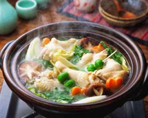 Cách nấu Lẩu Gà Nấm chua cay