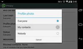 hide profile photo whatsapp