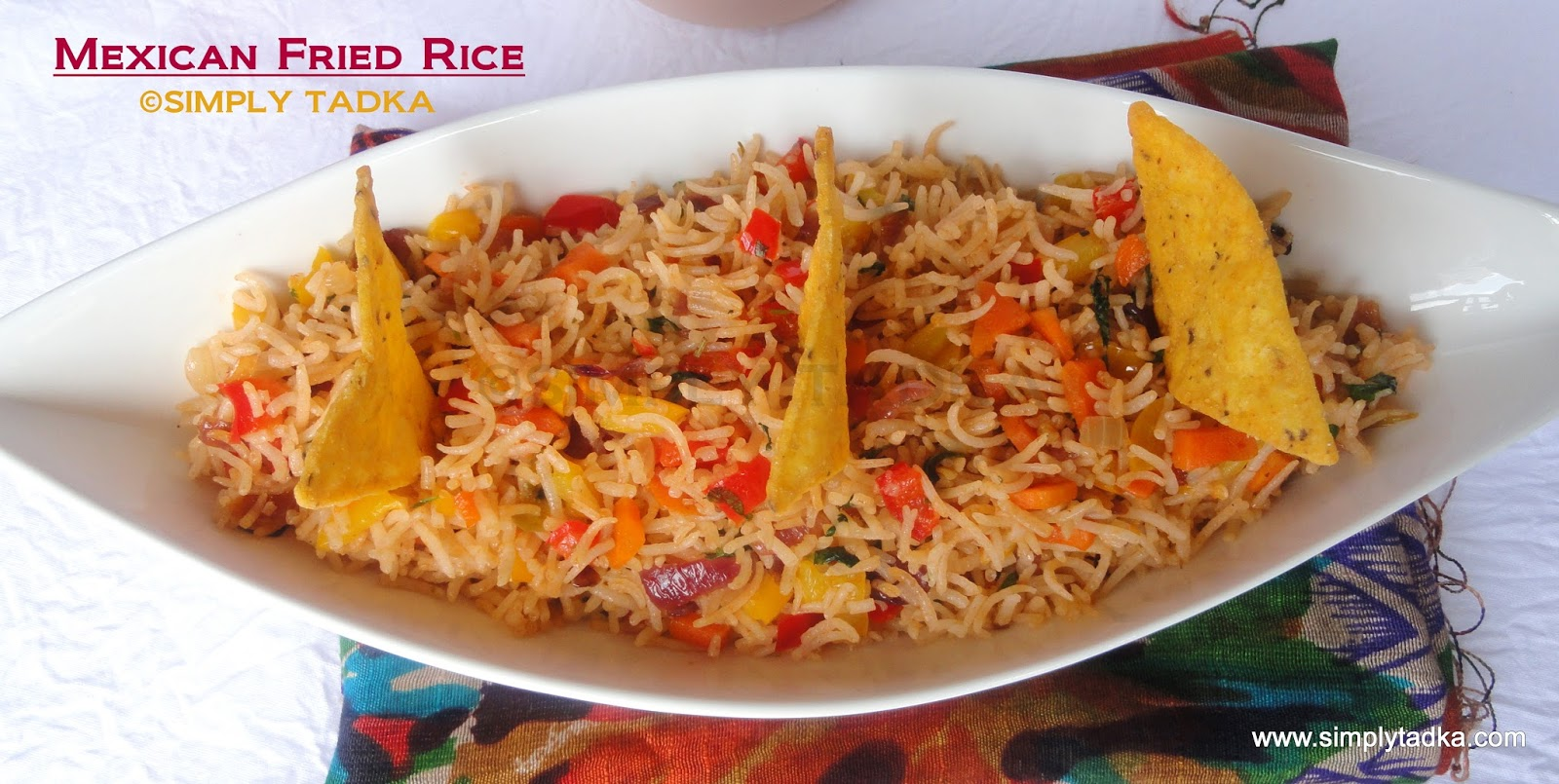 Mexican Fried Rice ~ Simply TADKA