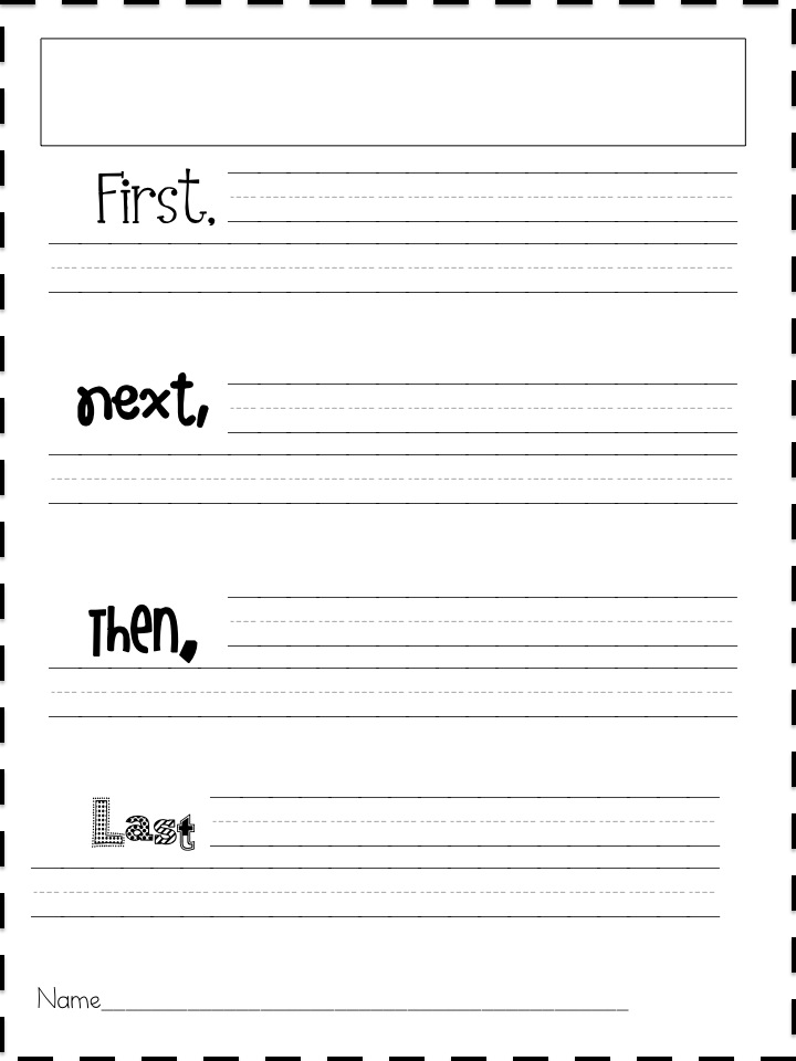 Child Care writing workshop paper template