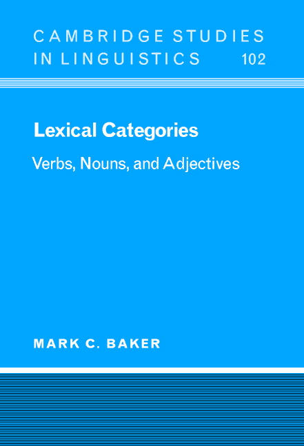 lexical categories of speech In grammar, a lexical category (also word class, lexical class, or part of speech) is a type of word (the word 'lexical' means relating to the vocabulary of a language) (the word 'lexical' means relating to the vocabulary of a language.
