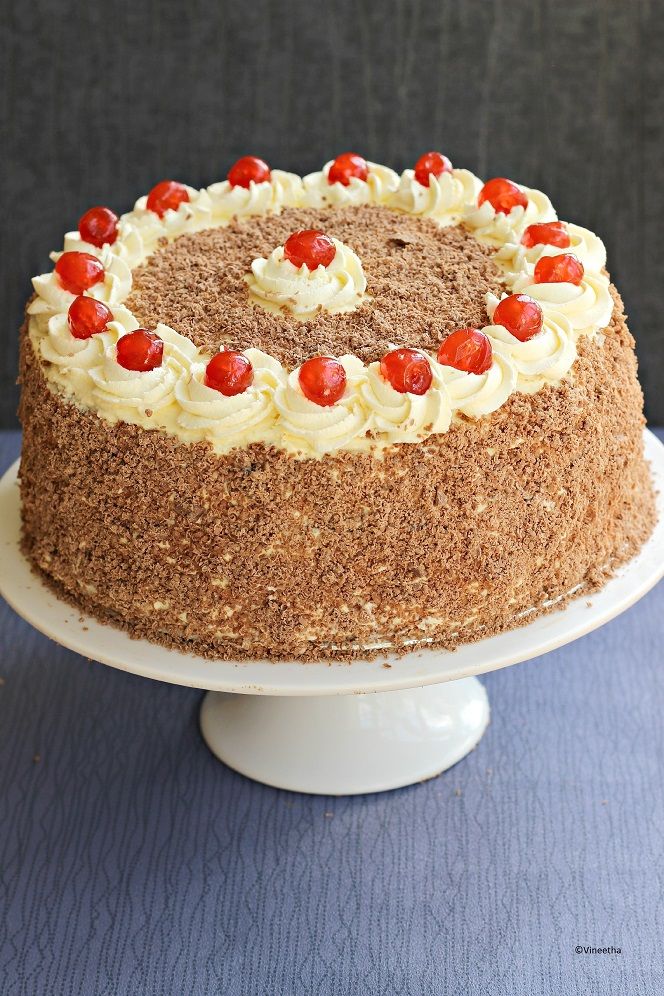 Cake Images Ruchi : RUCHI: Black forest cake, a guest post for Priya