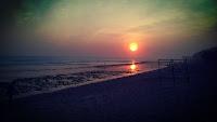 foto sunset indah pantai sepanjang