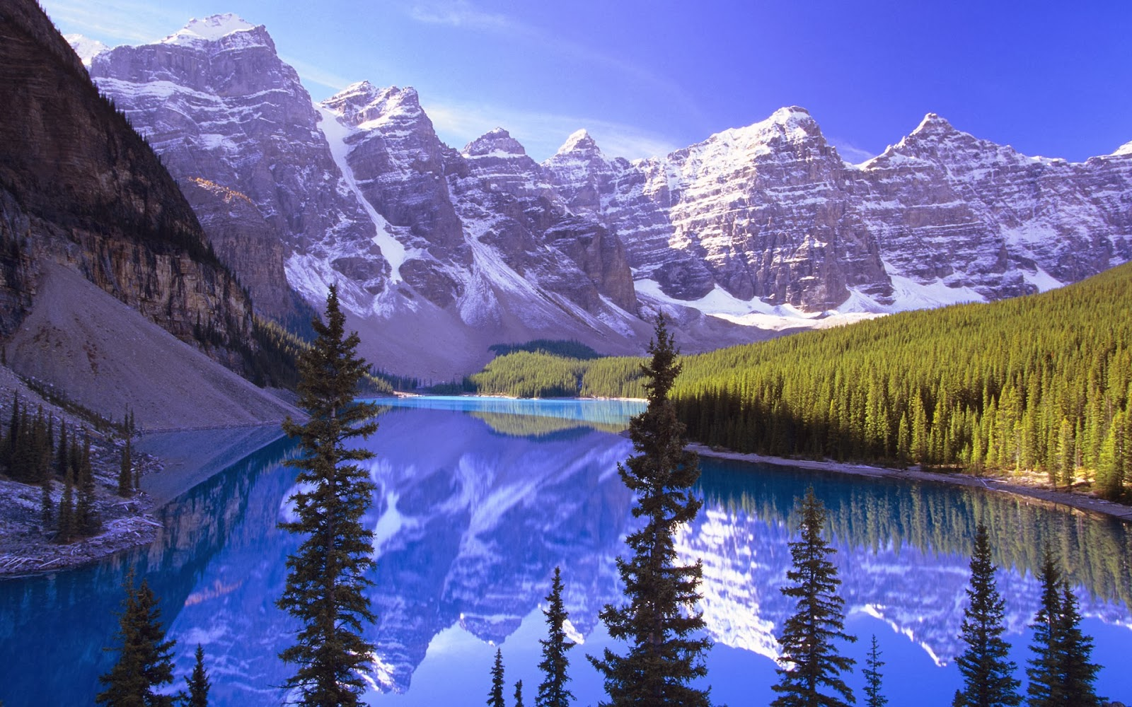 Ice Snowy Mountains Lake Nature Full HD Desktop Backgrounds Images Wallpapers Free