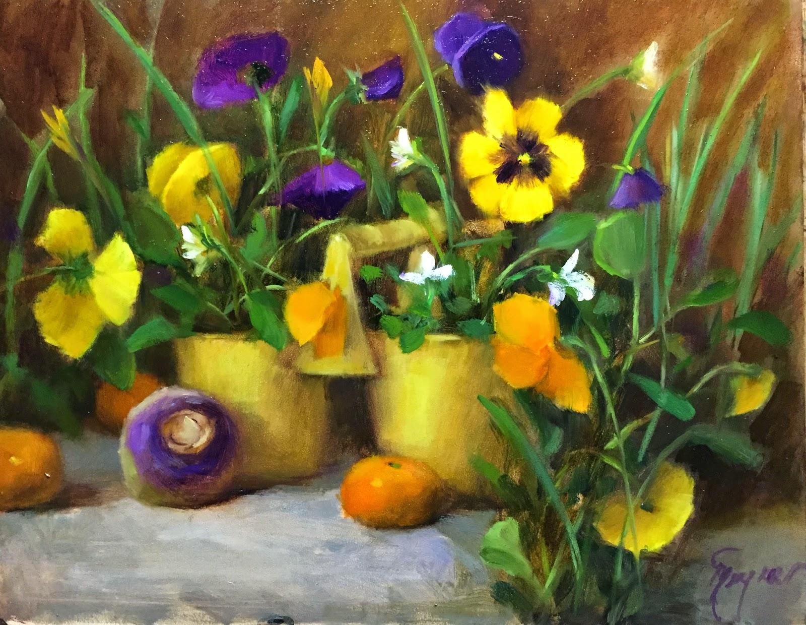 pansy gardener by artist pat meyer