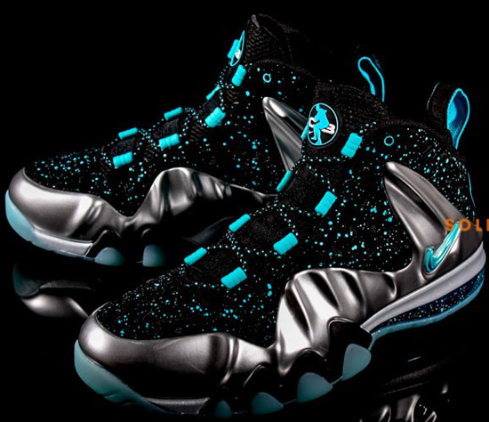 all nike foamposite black and blue charles barkley