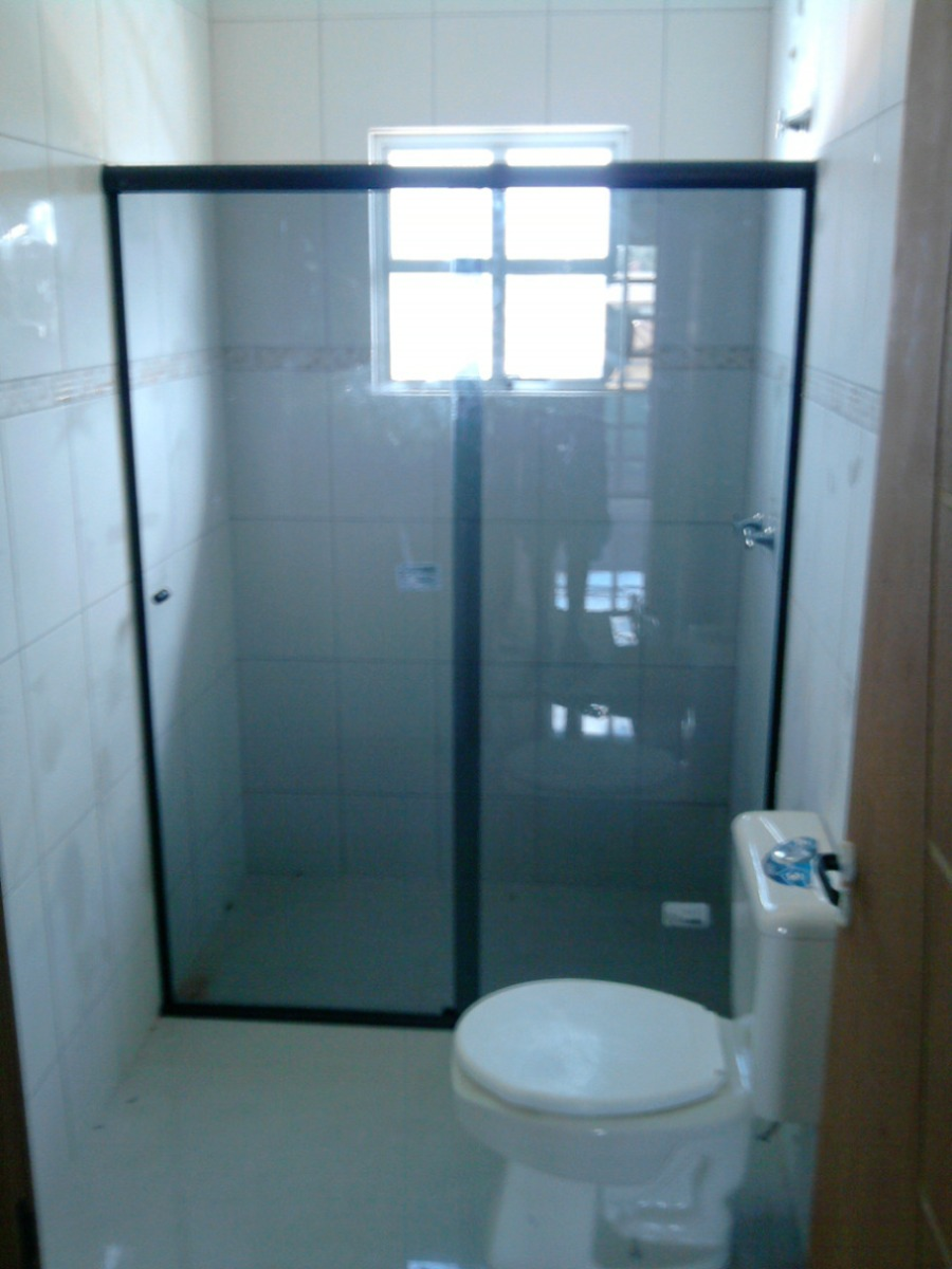 Box para banheiro vidro temperado  Aluvidros Araruna PB # Armario Para Box De Banheiro