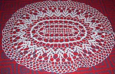Camino de mesa tejido al crochet