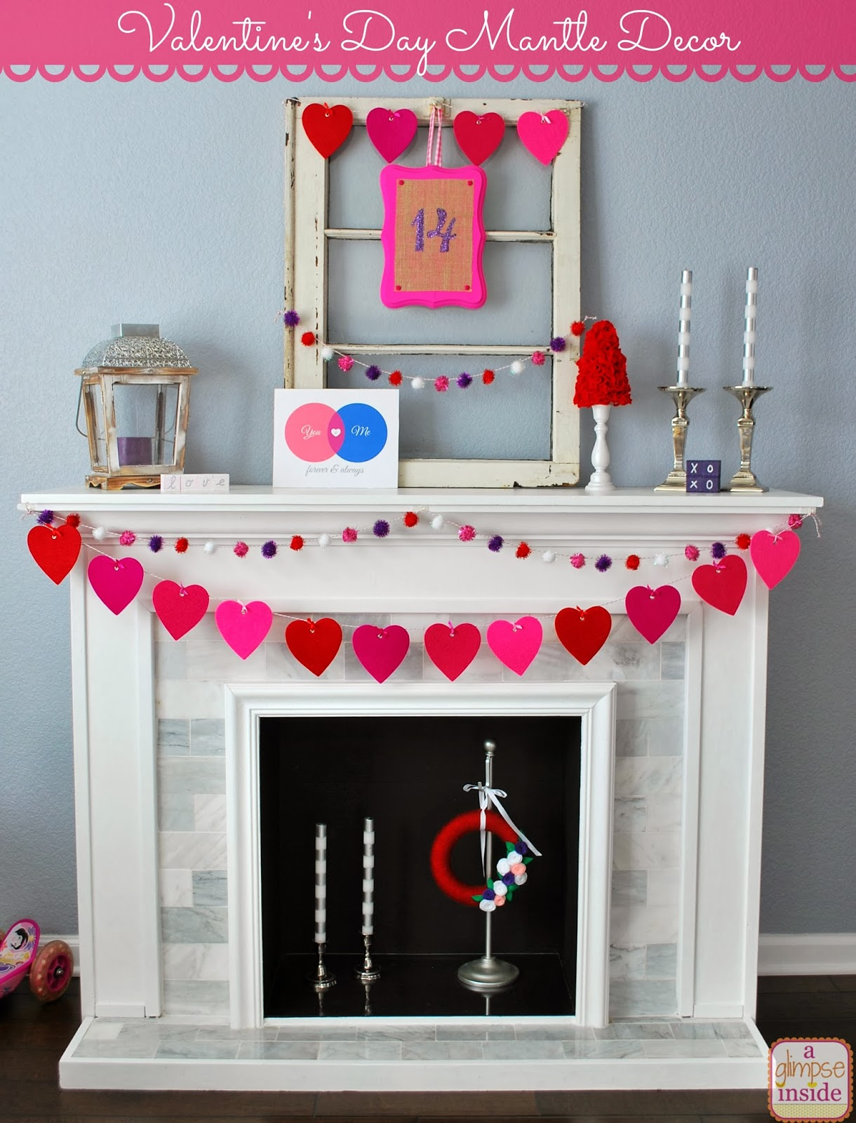 http://www.aglimpseinsideblog.com/2014/02/valentines-day-mantle-decor.html