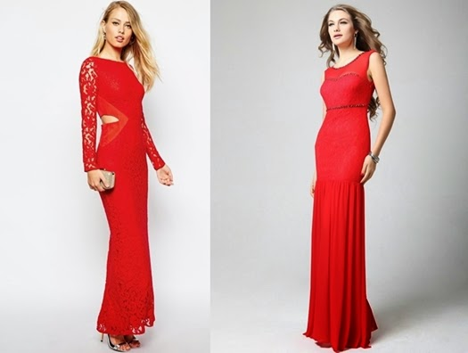 Lange rote Abendkleider für Special Events