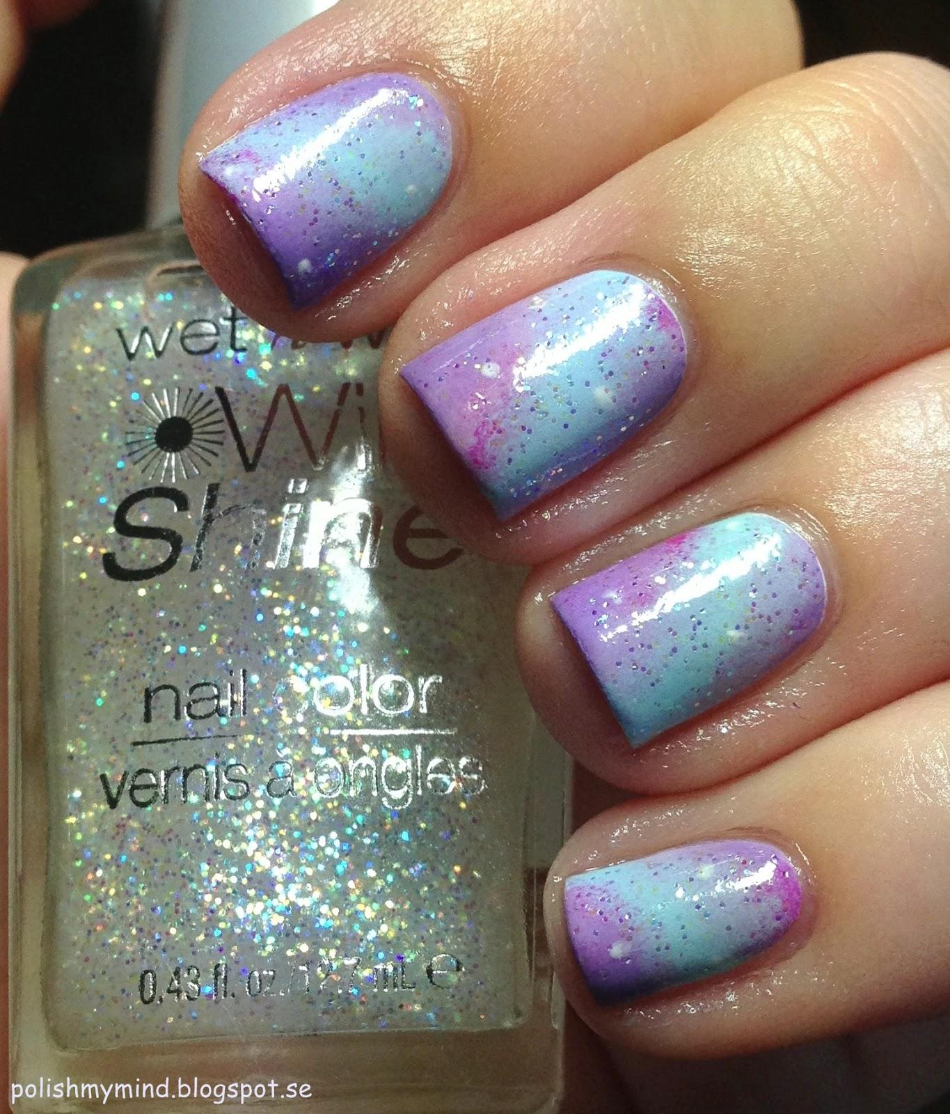 polish my mind: Pastel galaxy nails.