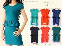 Jual Dress Peplum