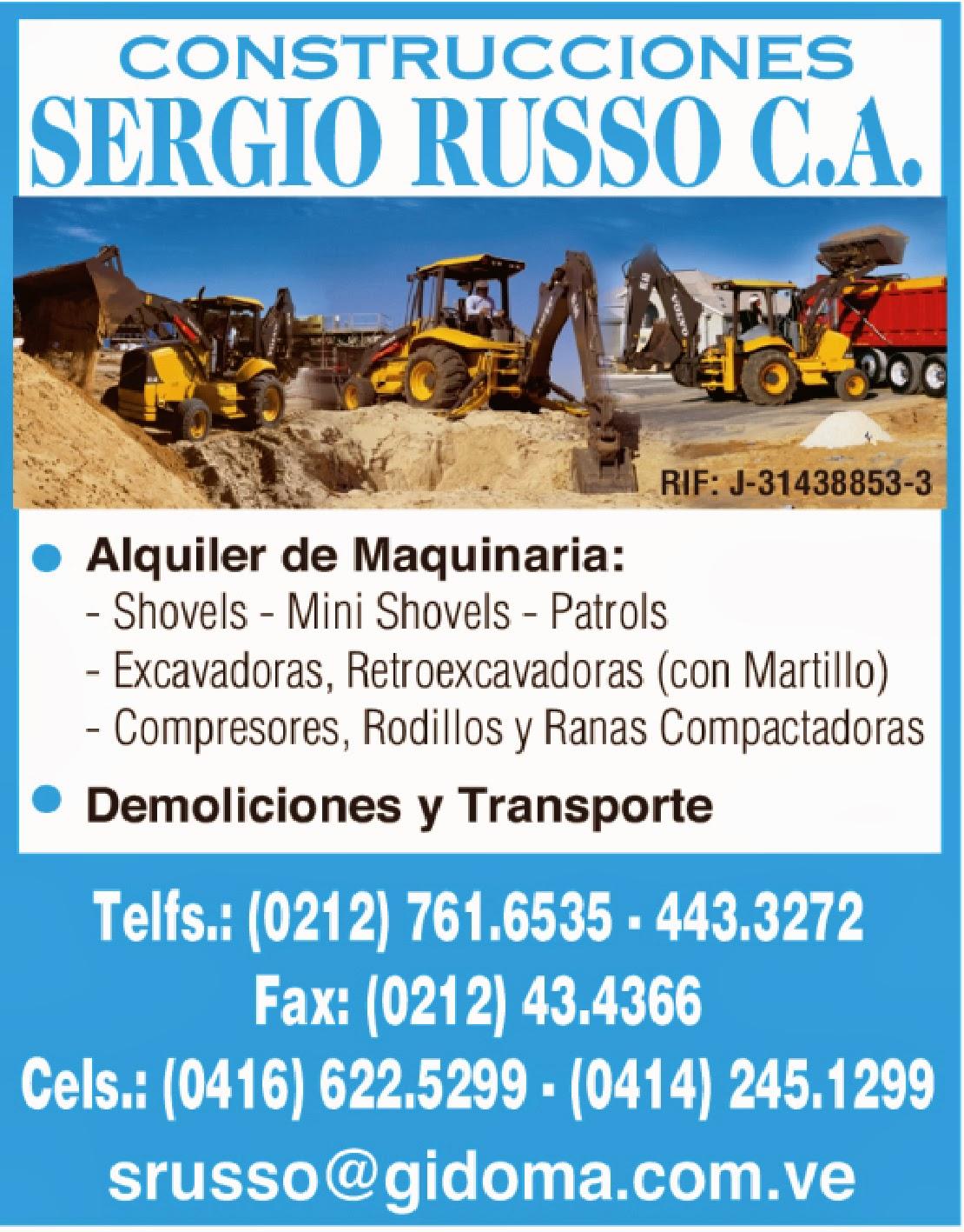 CONSTRUCTORA SERGIO RUSSO C.A. en Paginas Amarillas tu guia Comercial