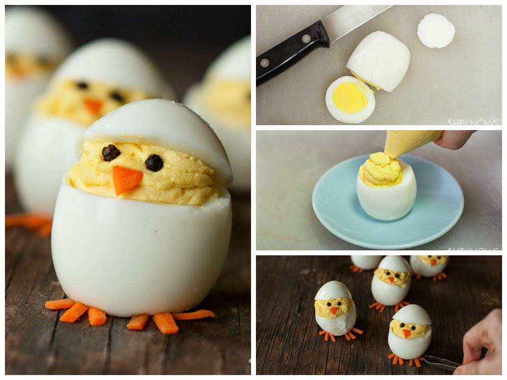 оформление детских блюд цыплята из яиц