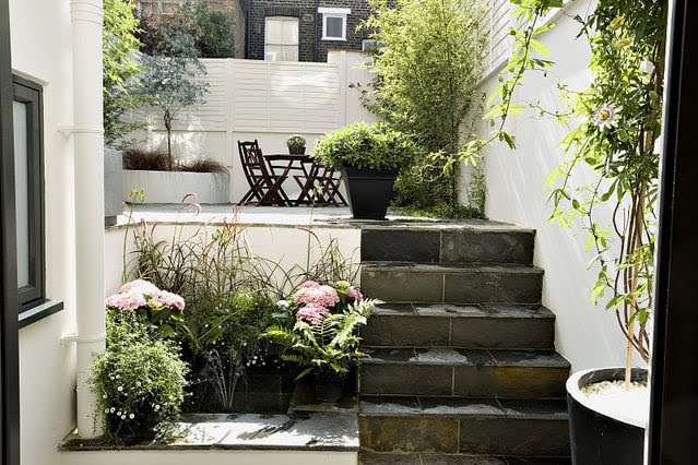 decoracao festa quintal:Um terreno em desnível pode possibilitar a criação de um espaço