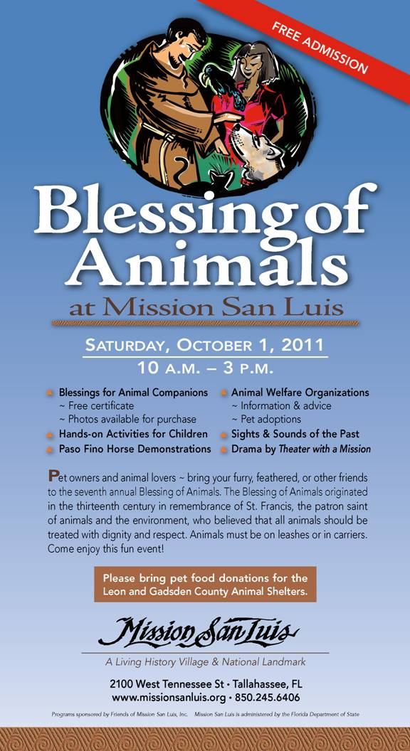 Homeschool Tallahassee Mission San Luis Events Free Blessing Of The
