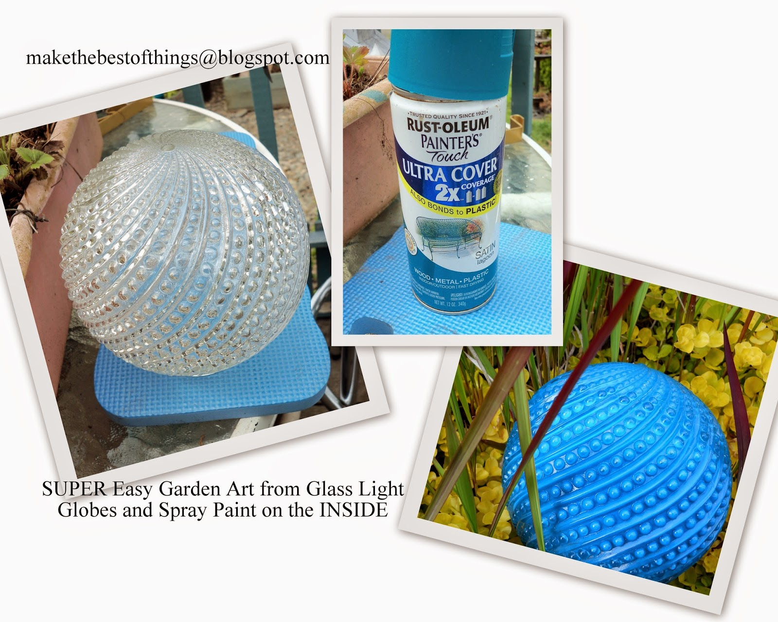 Diy Garden Art Super Easy Gl From Lamp Globes