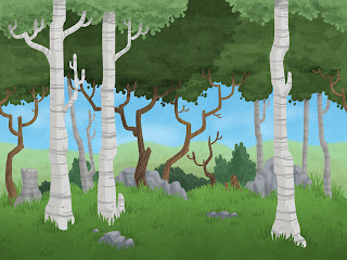 Danny Moore Illustrations Repeatable Forest Background
