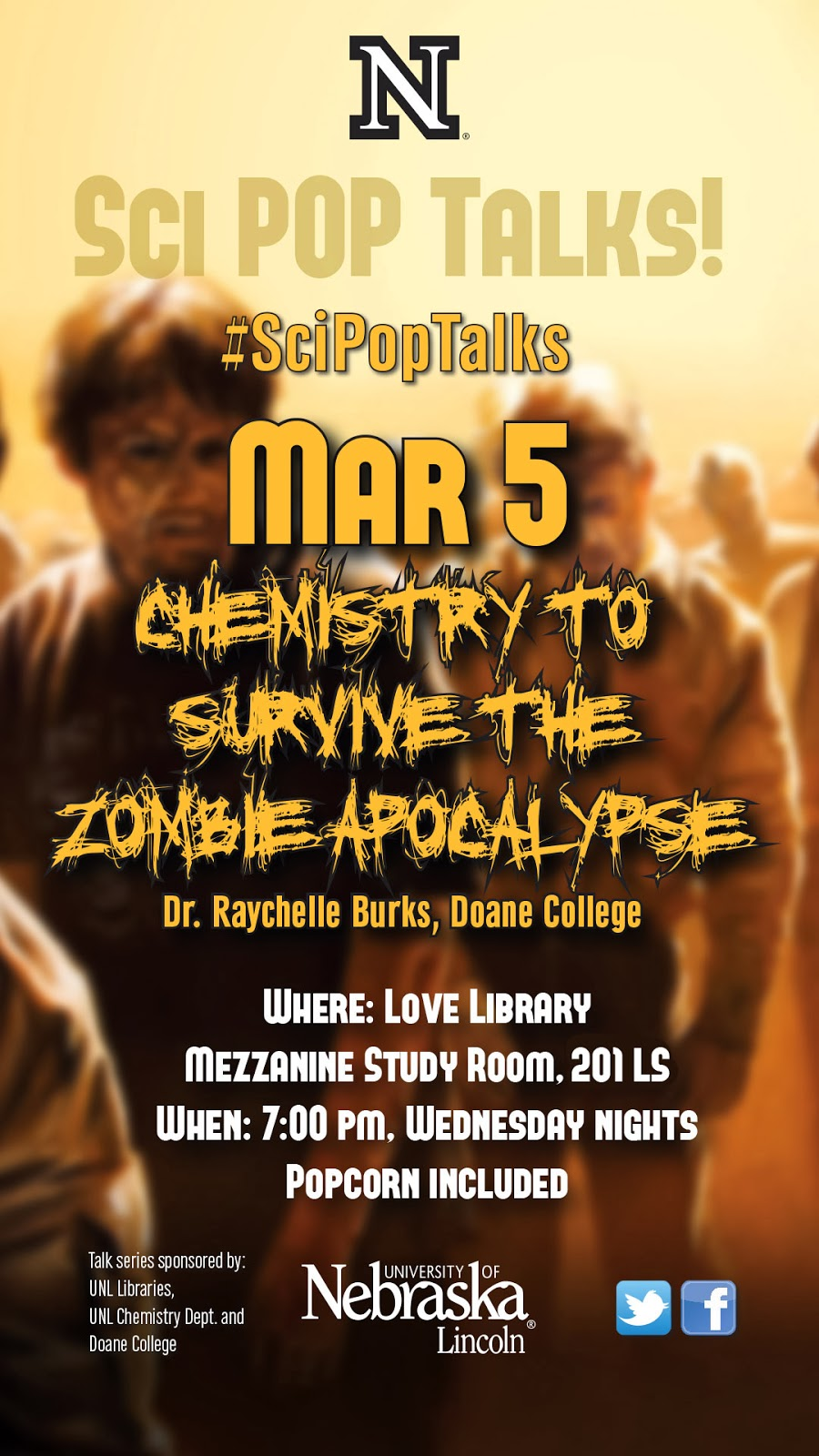 Chemistry to survive the zombie apocalypse march 5 7 00 pm