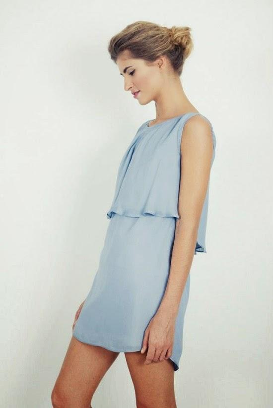 vestido pacific blue