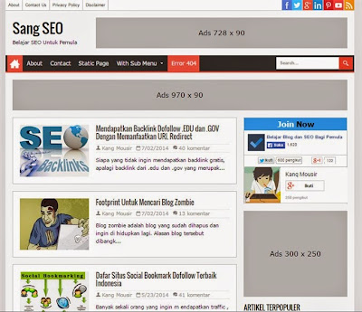 5 Simple Blogger Templates SEO Friendly | Free Blog Template