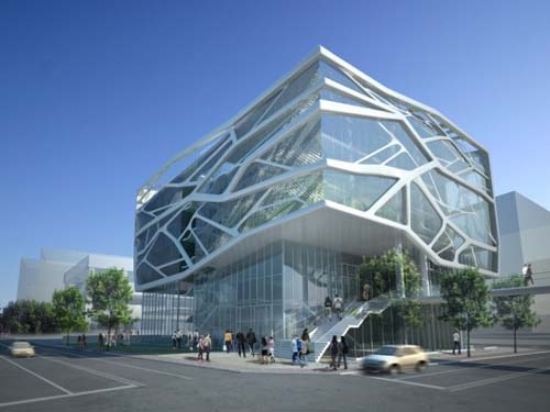 Green architecture design of gimpo art hall by gansam for Concept building
