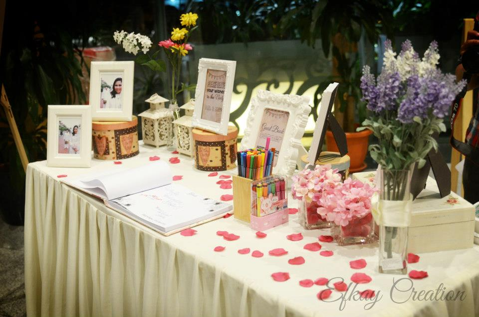 efkaycreation: Exclusive Package - Guestbook + Table Deco + Photobooth (Package 5)