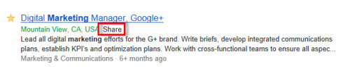 Share Google Job Search Result to Google+