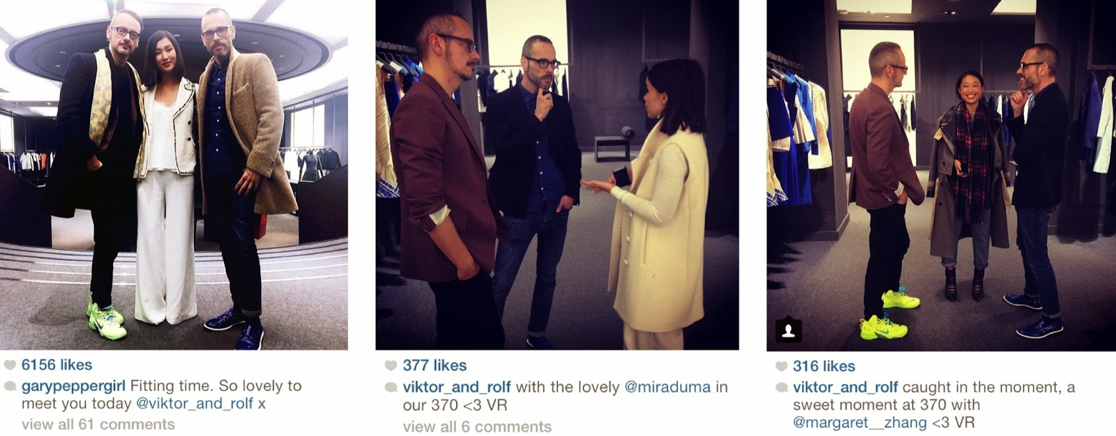 Fashionistas at the Viktor & Rolf flagship during Paris Fashion Week