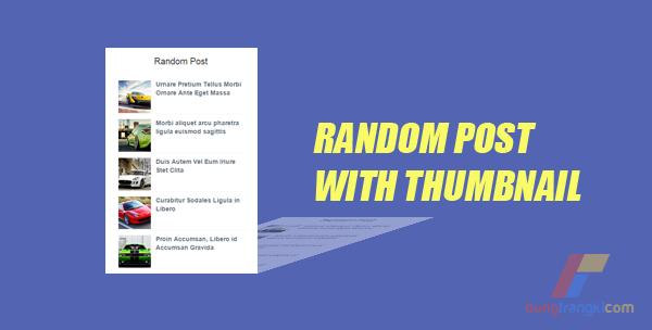 Cara Membuat Random Post dengan Thumbnail di Blog
