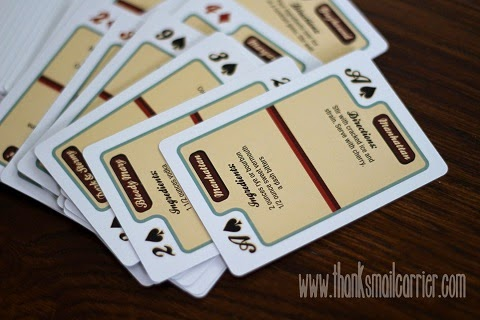 drink recipe playing cards