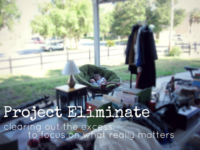 Project Eliminate // simplifying + minimizing challenge