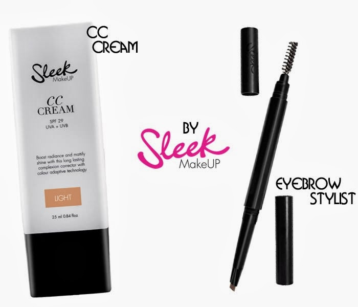 Sleek's MakeUp CC Cream & Eyebrow stylist.