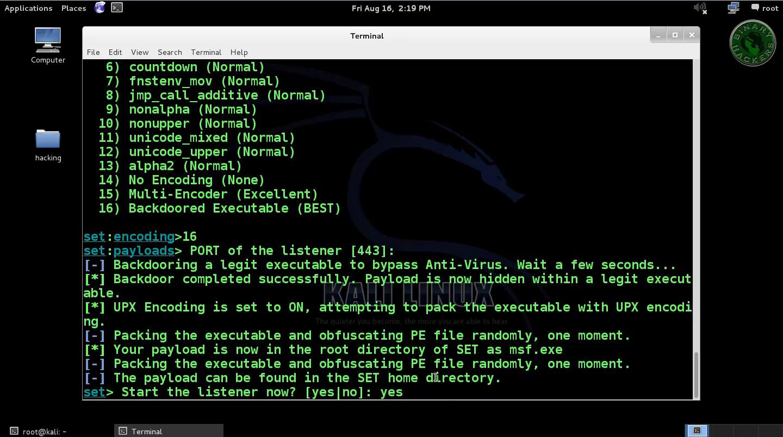 Social Engineering Toolkit Windows Xp