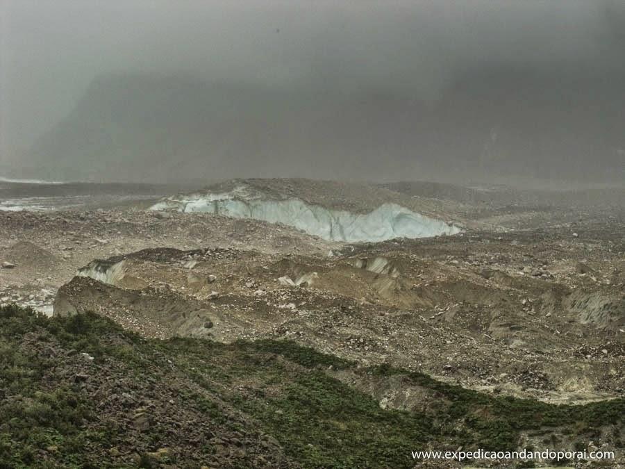 Glaciar Exploradores - visibilidade ruim