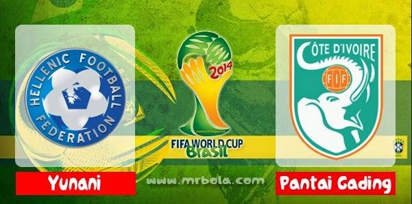 Prediksi Skor Yunani vs Pantai Gading 25 Juni Piala Dunia 2014