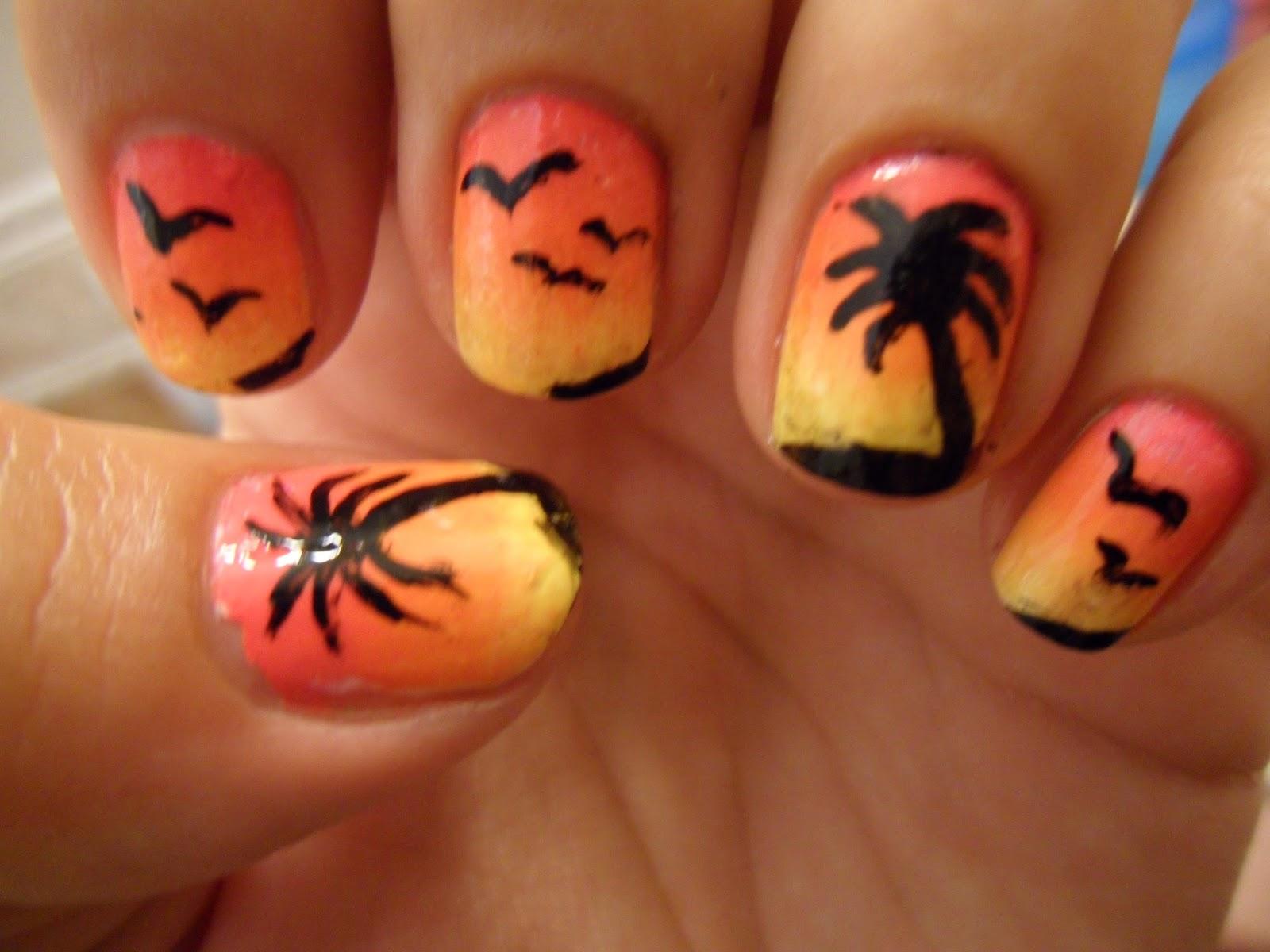 Territorio nail art y más ...: uñas palmera